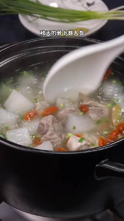 鲜掉眉毛的白萝卜排骨汤,饭点必喝!