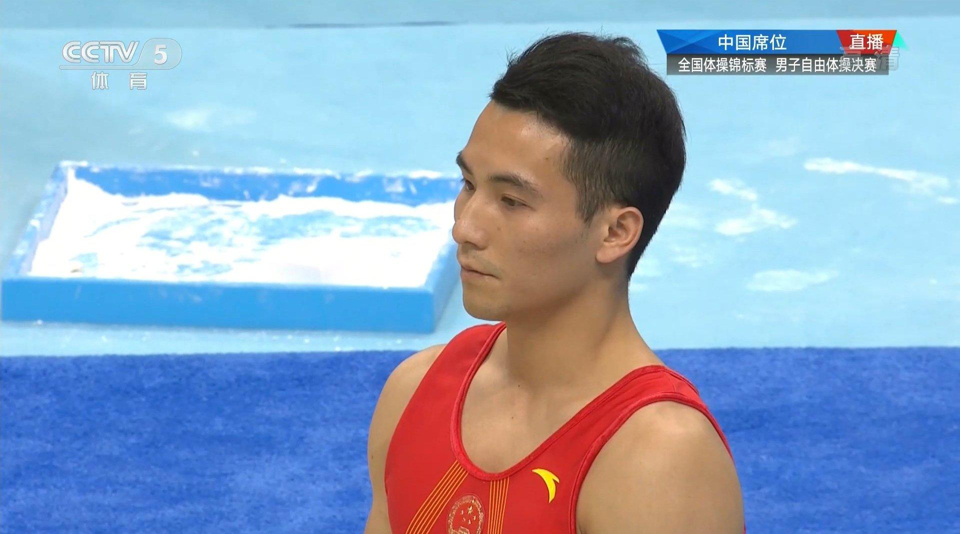 男子自由操决赛 邓书弟凭借稳定发挥……