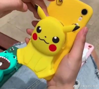 第一次见到这样的手机壳,能当零钱包还能当手机支架,爱了爱了!