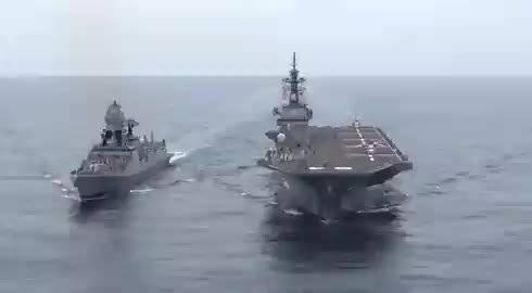 印度海军与日本海军在印度洋以北阿拉伯海进行联合
