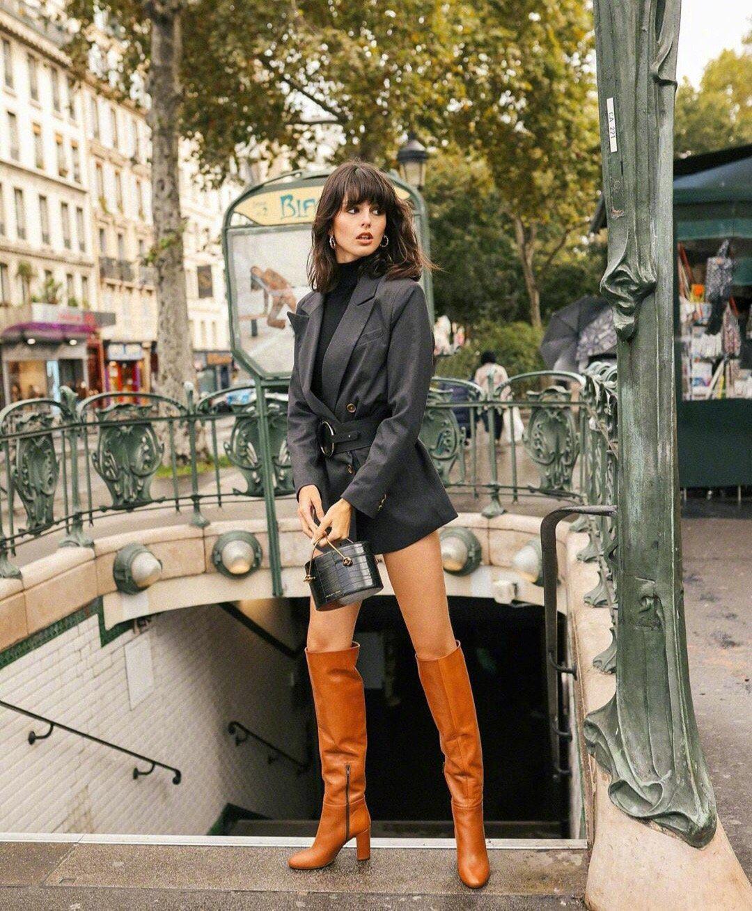 法国时尚模特Justine Soranzo法式穿搭合集