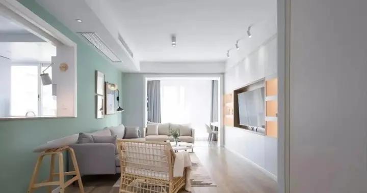 花10万改造103平三居室旧房,北欧风格太漂亮,邻居以为走错门了