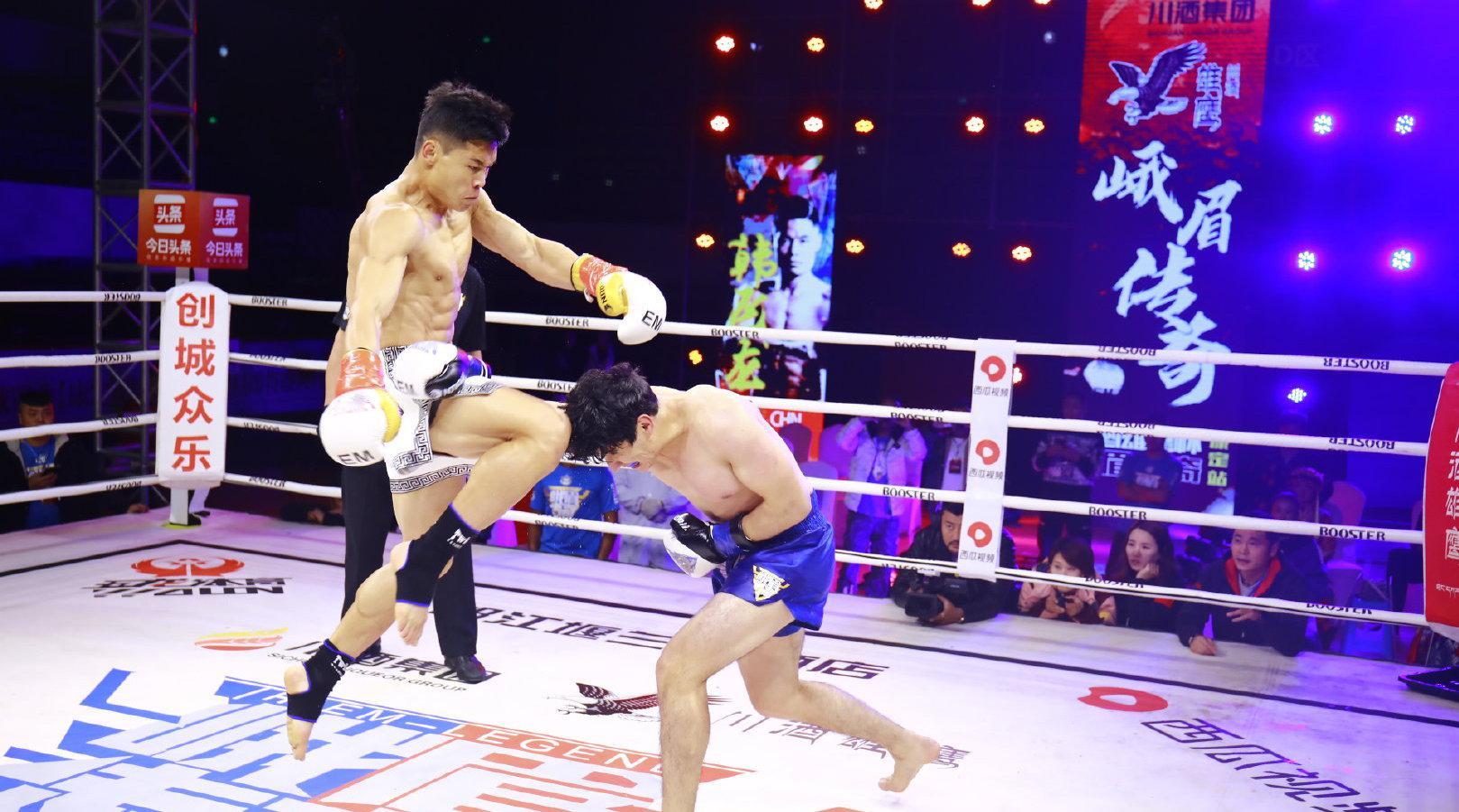 2020年9月26日, 康定站,韩飞龙对阵塔吉克斯坦选手苏乐……