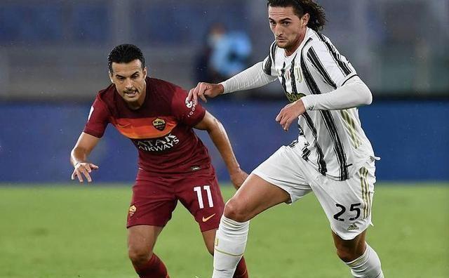 尤文2-2战平罗马。拉比奥特踢出了一场灾难般的比赛
