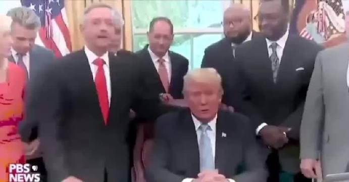 """美国各路""""大师兄""""云集白宫总统特朗普办公室""""开坛"""""""