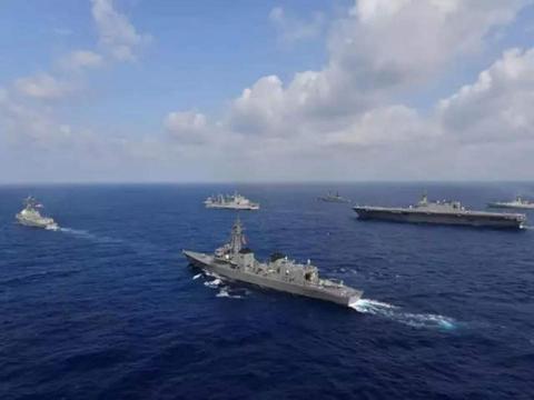 印度阿拉伯海军演,日本加贺号准航母公开力挺,剑指亚太能源通道