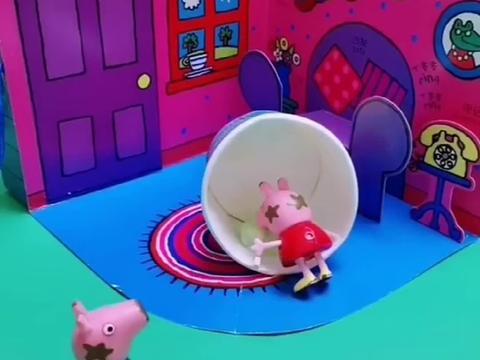 乔治给佩奇吃蛋糕,竟然被猪奶奶制止了,猪奶奶也太偏心了吧!