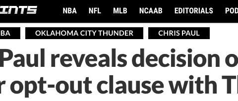 拒绝放弃2年8557万 不愿加盟湖人雄鹿,21+7巨星正式宣布今夏决定