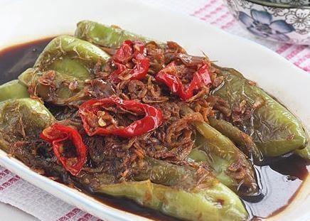 美食精选:油焖尖椒、椒盐虾、鸡茸火腿酿香菇、香辣牛蛙