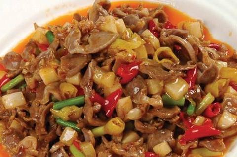 美食精选:泡椒炒鸡杂、橙香排骨、浙江片儿川、凉拌猪耳朵