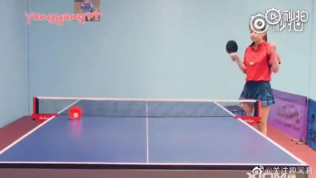 第一次见把乒乓球当台球打的,这也太厉害了吧