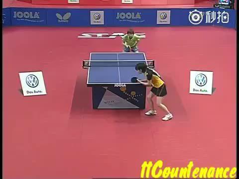 2010年的乒乓球世青赛 朱雨玲VS石川佳纯,青涩的她们