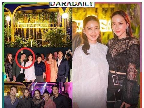 泰国女星Aump出席男友新餐馆的开业仪式