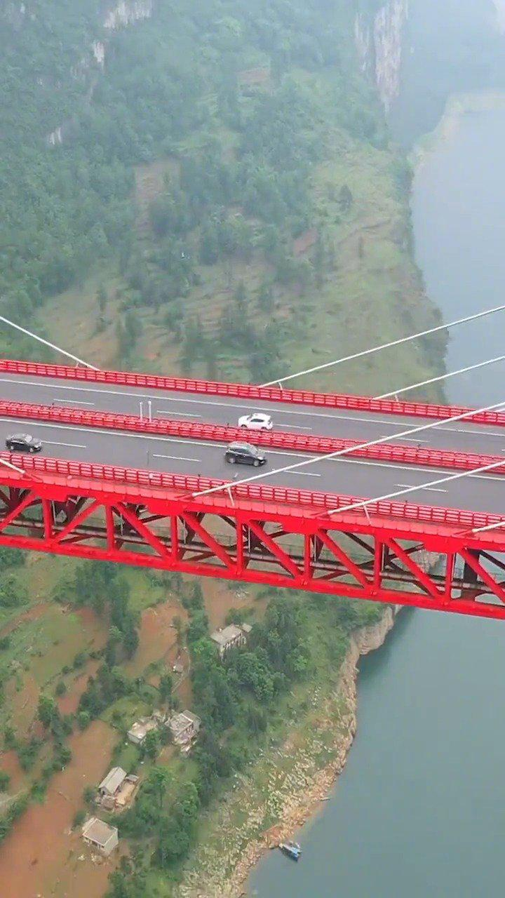 贵州鸭池河大桥,佩服桥梁的建设者