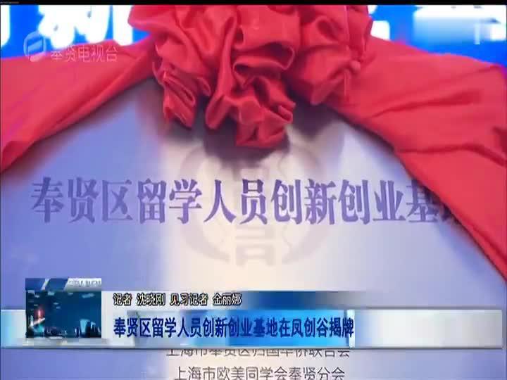 奉贤区留学人员创新创业基地在凤创谷揭牌
