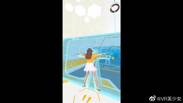 VR游戏小姐姐玩的太好了,动作不错