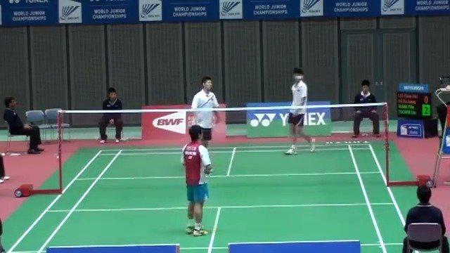 12年羽毛球世青赛 刘雨辰和搭档对上伍家朗和李晋熙