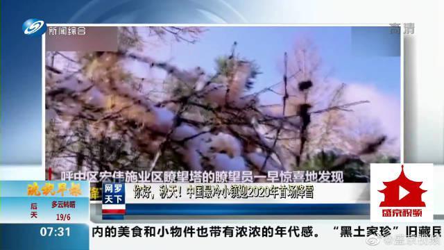 你好,秋天!中国最冷小镇迎来2020年首场降雪