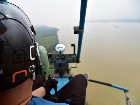 热气球赏日落,乘坐动力伞做飞人,肇庆航空文旅活动在砚洲岛举行