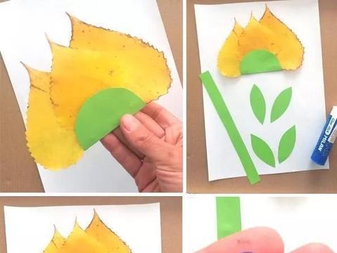 捡来的落叶还可以这样玩,叶子创意手工、亲子手工附教程