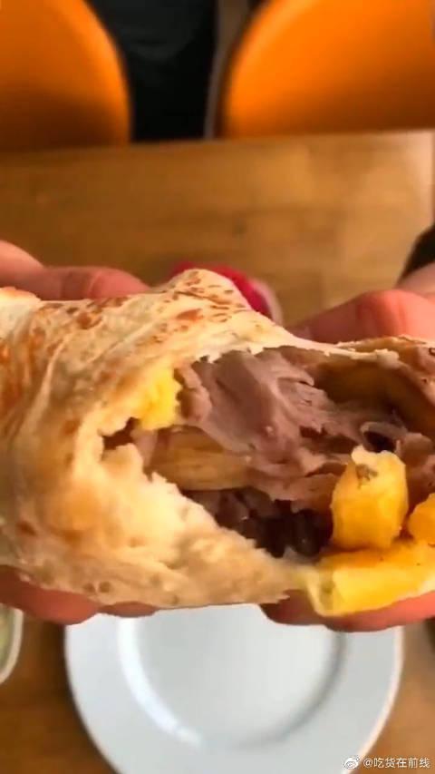 """土耳其风格的烤卷饼,一分价钱一分货,绝对比""""够不够""""阿姨实在"""
