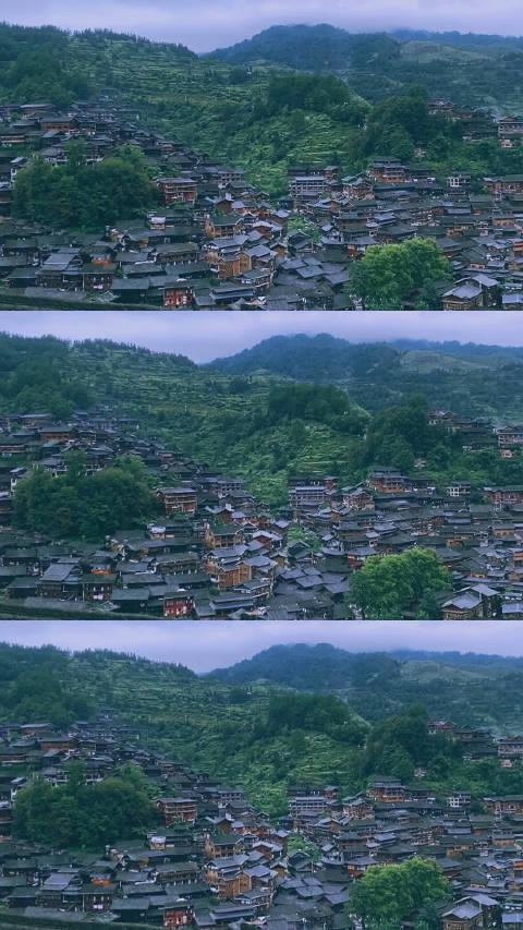 站在观景台上俯瞰西江千户苗寨,可以观赏到整个苗寨的风景