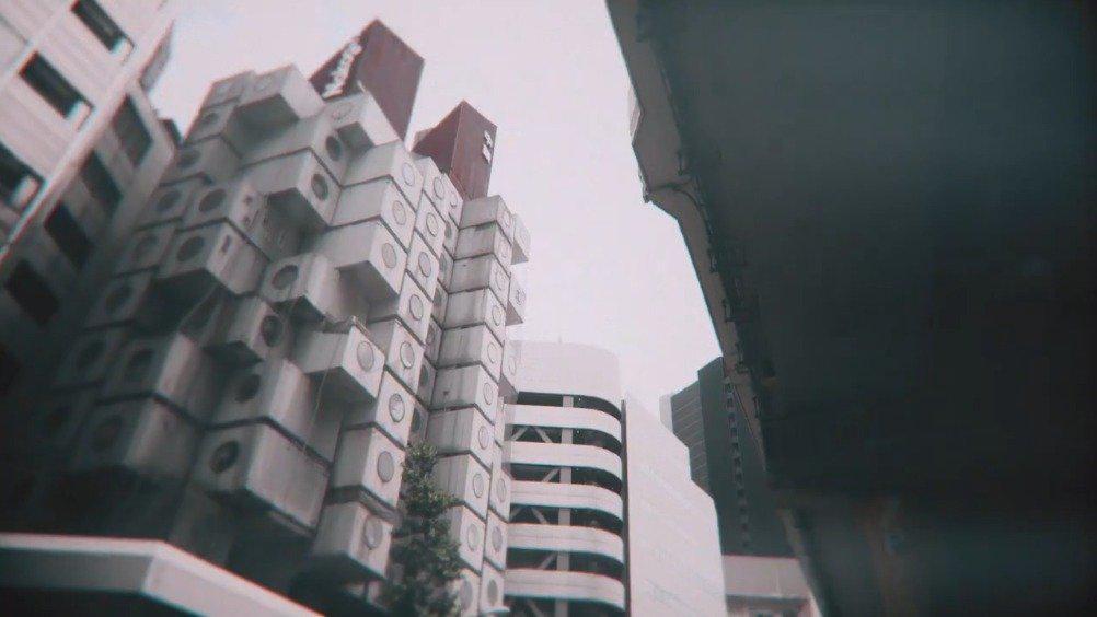 位于东京新桥的「中银胶囊塔」由黑川纪章设计……