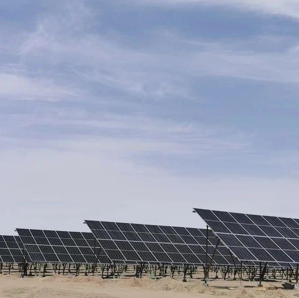 荒漠中的奋斗:中核集团首个青海光伏项目并网