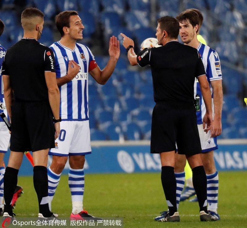 西甲-队长压哨进球被吹 皇家社会0-1憾负巴伦西亚