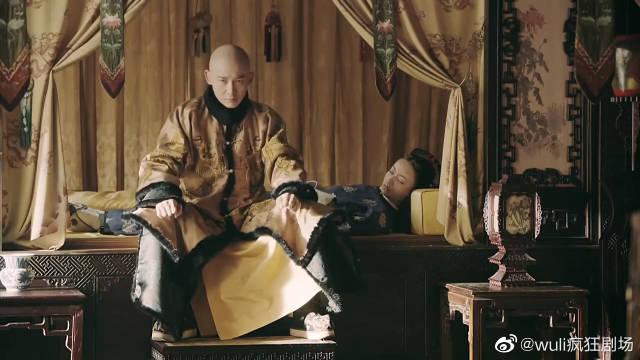 魏璎珞大雪中晕倒,皇帝抱回寝殿……