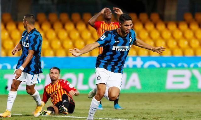 意甲第一轮补赛,国际米兰在客场与升班马贝内文托上演了一场5:2的进球大战