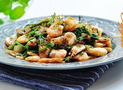 虾味十足:茴香炒虾,萝卜蒸虾球,虾仁白菜