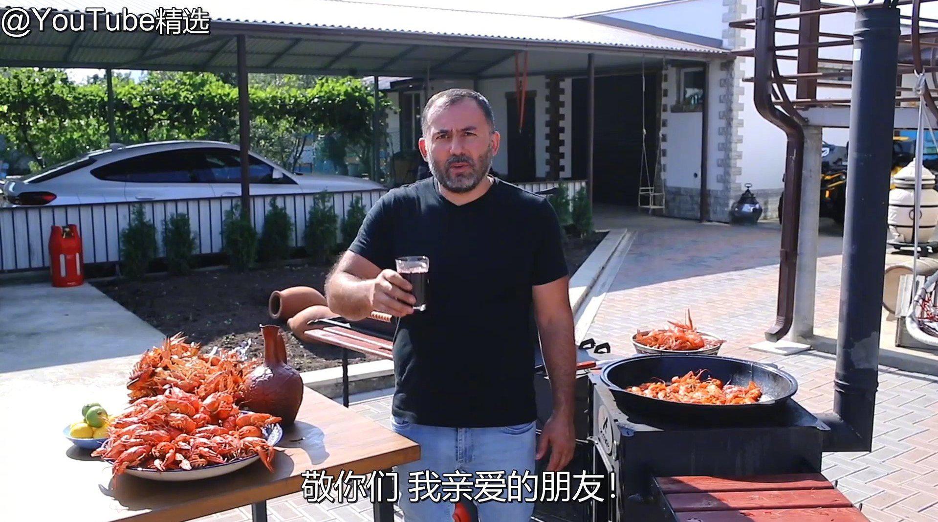 高加索大叔烤肉 串烤+油炸小龙虾