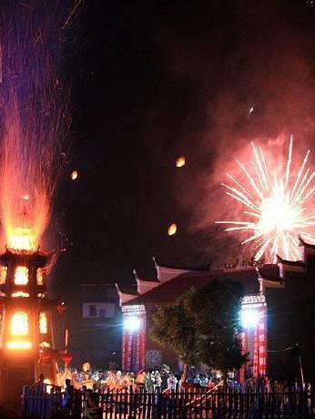 国家级非物质文化遗产项目:吉安中秋烧塔