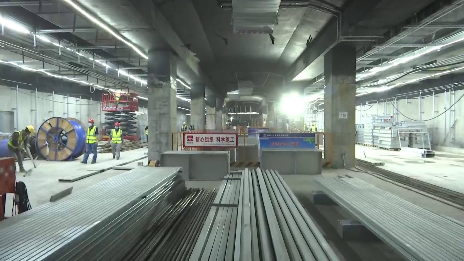 国庆中秋假期:地铁建设者坚守一线 全力确保按时完工