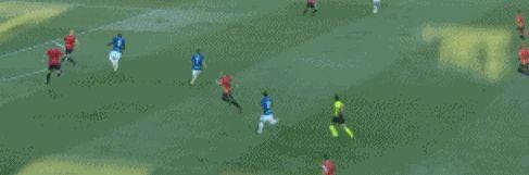 20/21赛季意甲第1轮补赛,贝内文托对阵国际米兰,上半场27分钟时间内