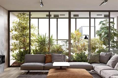 121㎡现代精简品质宅,把玻璃花房装进客厅,藏不住的蓬勃生命力