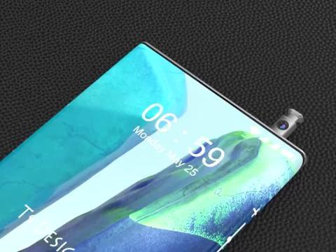 三星 Galaxy Note 30 概念设计:无实体按键、前摄藏手写笔