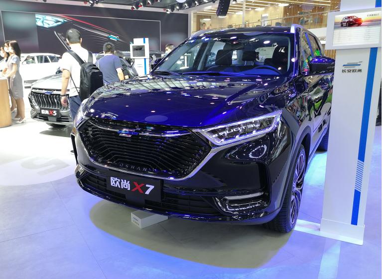 北京车展实拍 长安欧尚X7亮相 起售价7.77万 搭载蓝鲸发动机