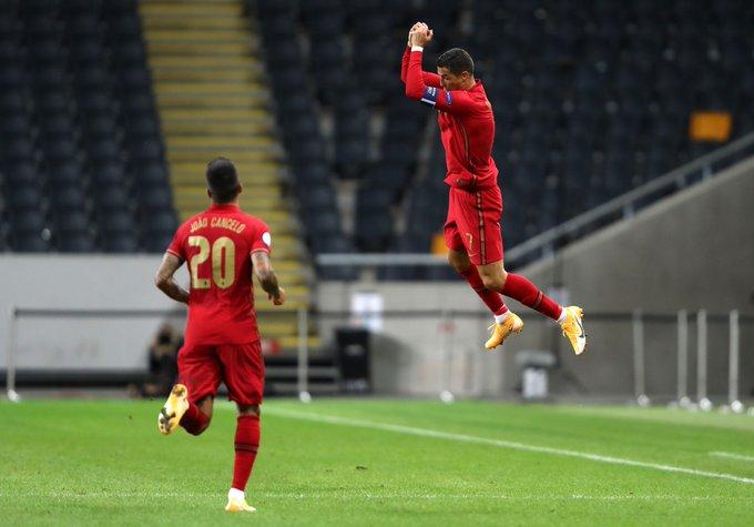 C罗连进2脚世界波!葡萄牙2-0完胜世界第17