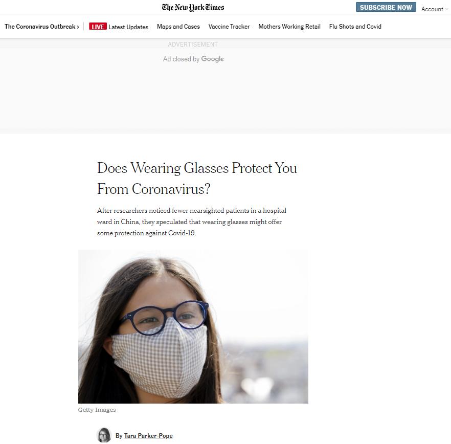 江西援鄂医疗队研究成果:佩戴眼镜可降低感染新冠肺炎的几率图片