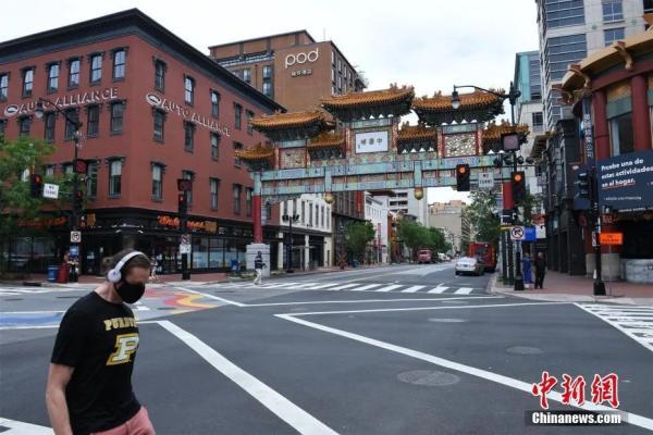 重启中的华盛顿唐人街。 中新社记者 陈孟统 摄