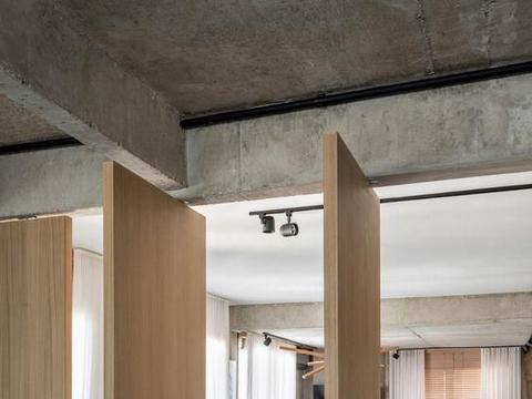 他家这吊轨门,说是隔断也没错,每扇能独立移动,还能塞进凹墙里