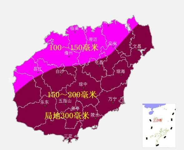 未来一周将有三个台风先后影响海南图片