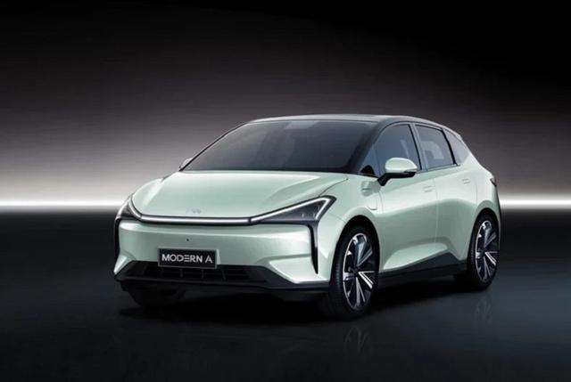 摩登汽车官方旗下首款纯电车型 摩登A官图发布
