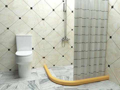 卫生间不要装挡水条了,头次见有钱人这样设计,下水速度快又美观