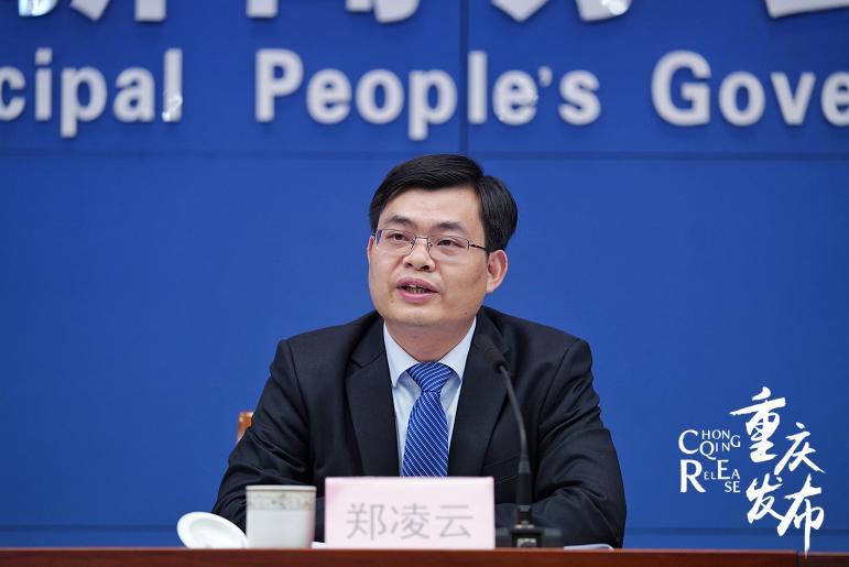 重庆市处所金融监视治理局党构成员郑凌云回覆记者提问 罗嘉 摄