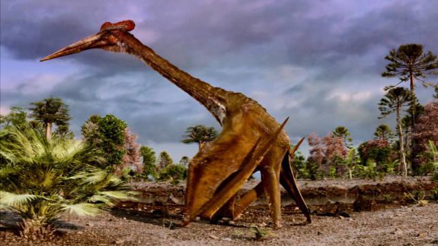 风神翼龙是白垩纪时期飞行怪兽!站立与长颈鹿平视的它是何画风?