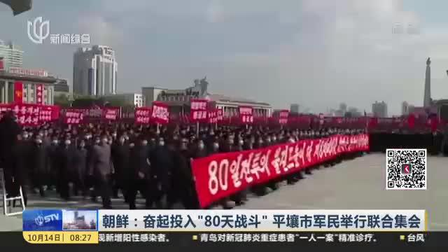 """朝鲜:奋起投入""""80天战斗""""  平壤市军民举行联合集会"""