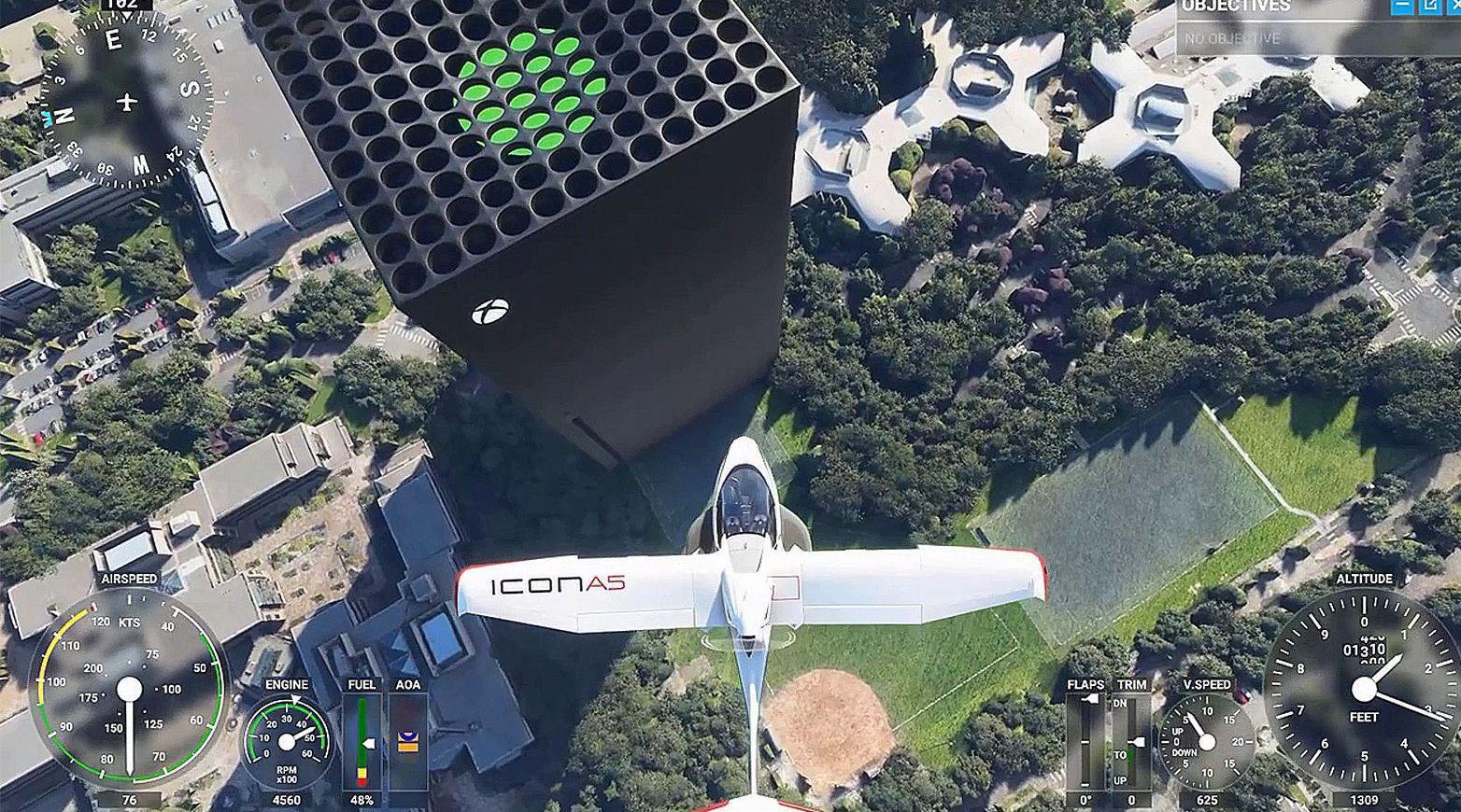《微软飞行模拟》玩家 Oh_Gaz 制作了一个Mod……